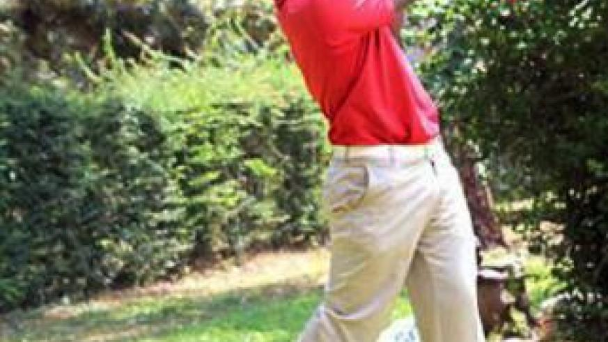 Jean Baptiste Hakizimana eyeing an impressive show at this year's Kenya Golf Open. File