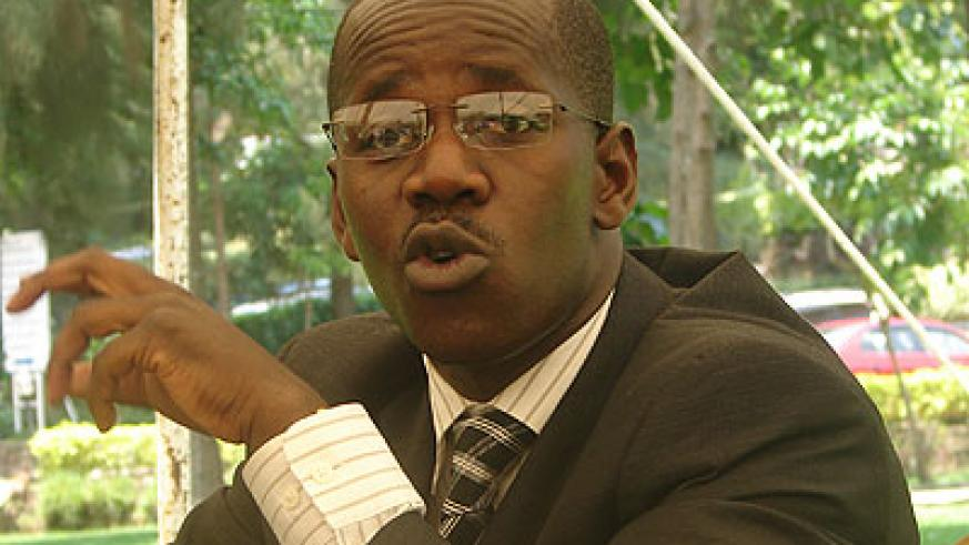 Uwizeyimana speaks to journalists in Kigali last month. The former Kigali detractor said his criticism of the Government was part of his paid job with BBC as an analyst. (File)