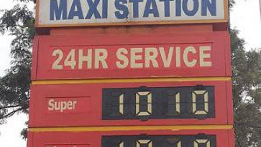 Fuel pump prices have been cut by Rwf20 to trade at Rwf1,010 per litre. The New Times / Ben Gasore.