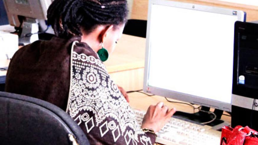 More women today have access to technology, keeping Rwanda on track to achieving gender parity in ICT. File.