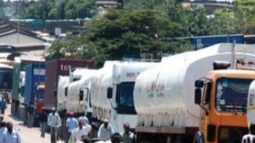 Oil tankers ferry petroleum products through Kenya. KRA has imposed a new tax on all goods transiting through the country.  The New Times / File.