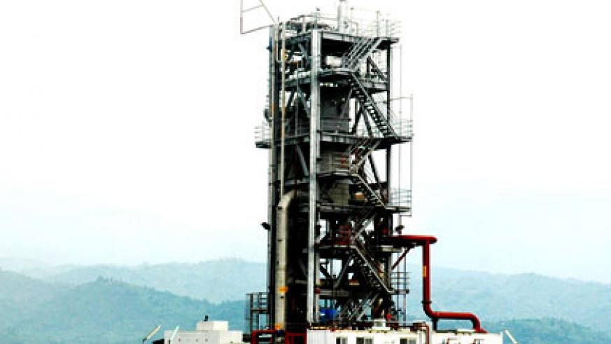 A methane gas plant on Lake Kivu, Rubavu District. Poor negotiations cost the region substantial gains from oil deals. File.