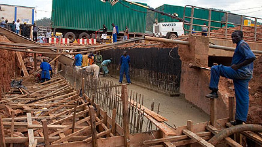 Workers expand the Nyabugogo tunnel. The area is among the many spots in the country that have always been affected by floods. Timothy Kisambira.