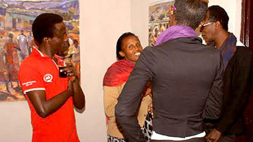 Art lovers flocked in to witness the launch of Tongo Arts gallery.
