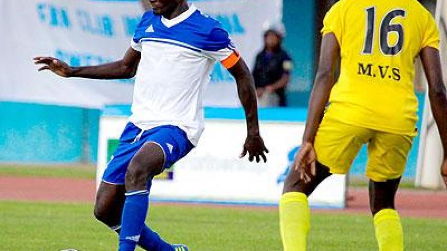 Cedric Amissi (L) seen here  in action during a league match against Mukura. (File)
