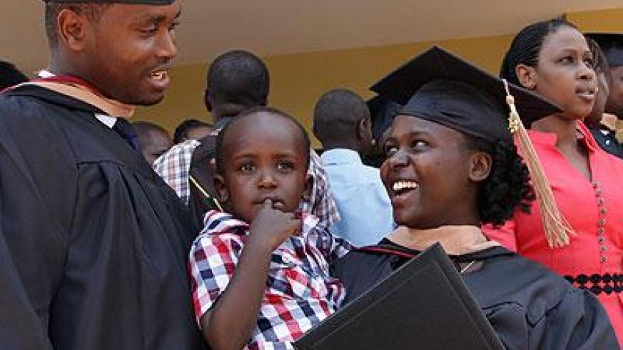 Some of the students who graduated yesterday. (John Mbanda)
