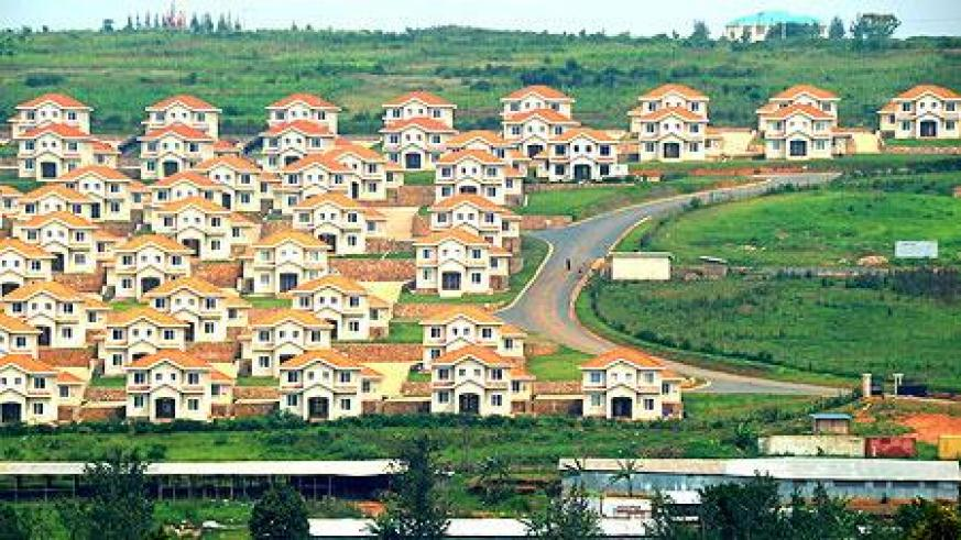 A view of some housing units in Gasabo District. More houses are needed to accommodate the big number of people in Kigali. (File)