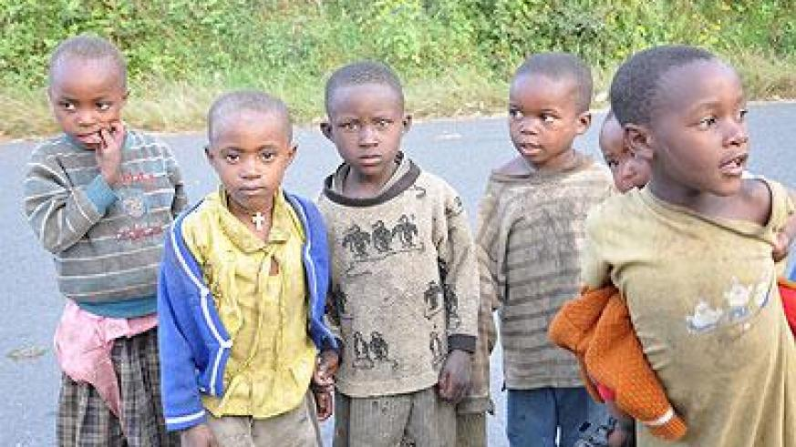 Some of the children in Nyungwe National Park. The government is working round the clock to improve the plight of chldren in Rwanda. (Athan Tashobya)
