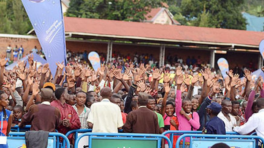 The crowd was lively, cheering each artiste as they performed. All photos by Plaisir Muzogeye.