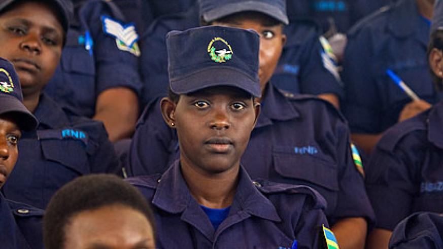 Police women at Petit Stade in Remera on January 30. (File)