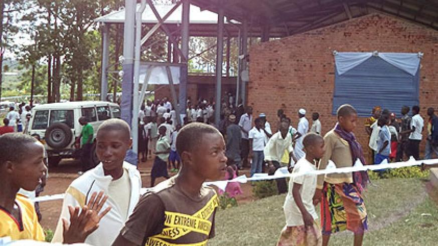 Remains of more than 65,000 Genocide victims are interred in the four memorial sites in Bugesera District, including of an estimated 45,000 victims buried at this former church. (J....