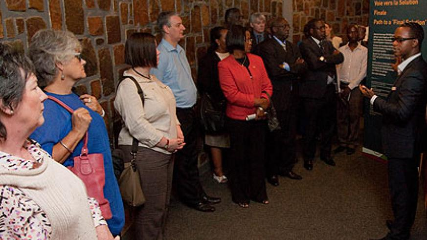 UK Members of Parliament at Kigali Memorial Centre. (Timothy Kisambira)