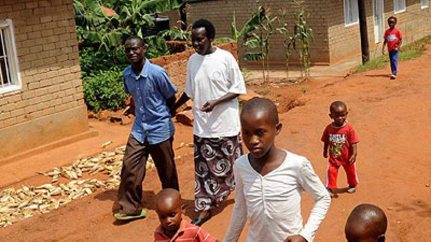 A housing estate for Genocide survivors in Kicukiro. Survivors have been helped to meet the basic needs of life. (John Mbanda)