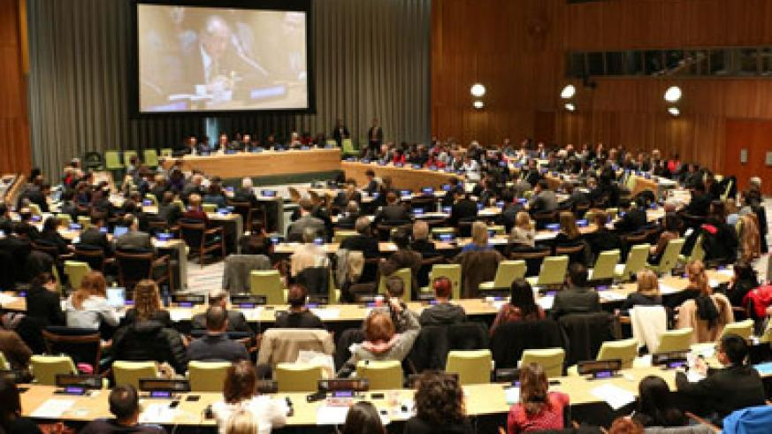 Participants attend a Global Conversation on the Genocide against the Tutsi at the UN headquarters New York. (Internet photo)