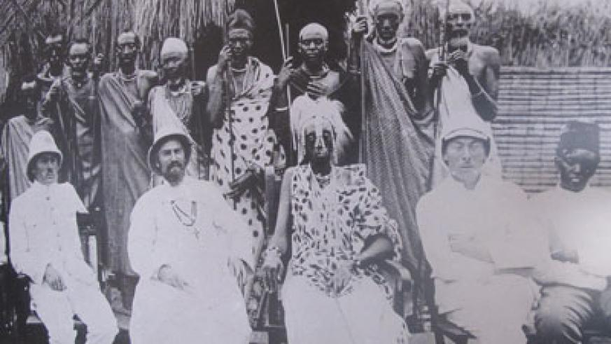 King Musinga (second right) with European visitors. Before the white man came, Rwanda was a highly centralised and organised monarchy. (File)