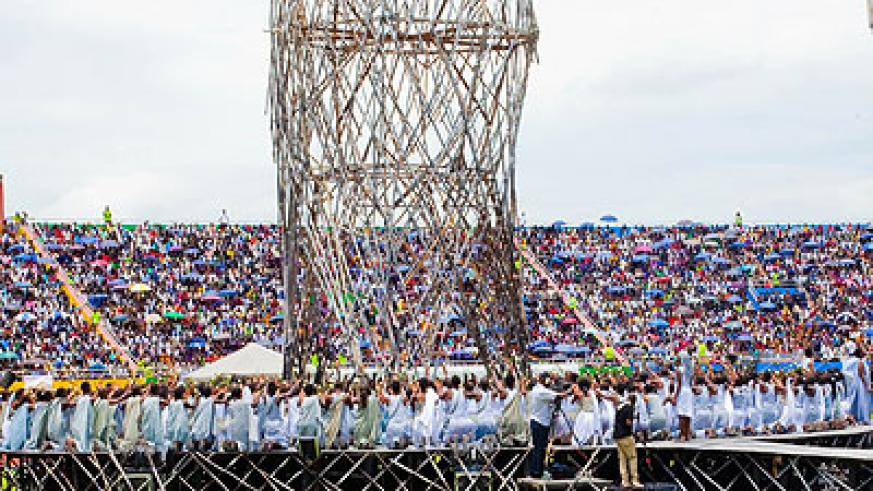 Tens of thousands of mourners turned up for the Genocide anniversary ceremonies at Amahoro Stadium on Monday. (File)
