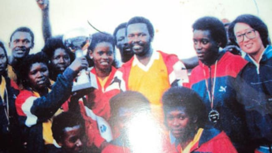 Adolphe Rutsindura (standing centre) is the most high profile Genocide victim in the volleyball fraternity. (File)