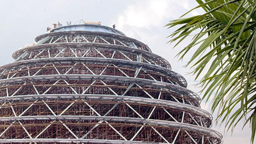 The Kigali Convention Centre, which is under construction in Kimihurura, is one of the major projects undertaken by Government in the recent past. (John Mbanda)