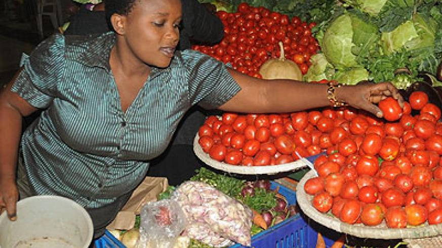 Vegetable prices slightly went up, increasing the urban price index. File.