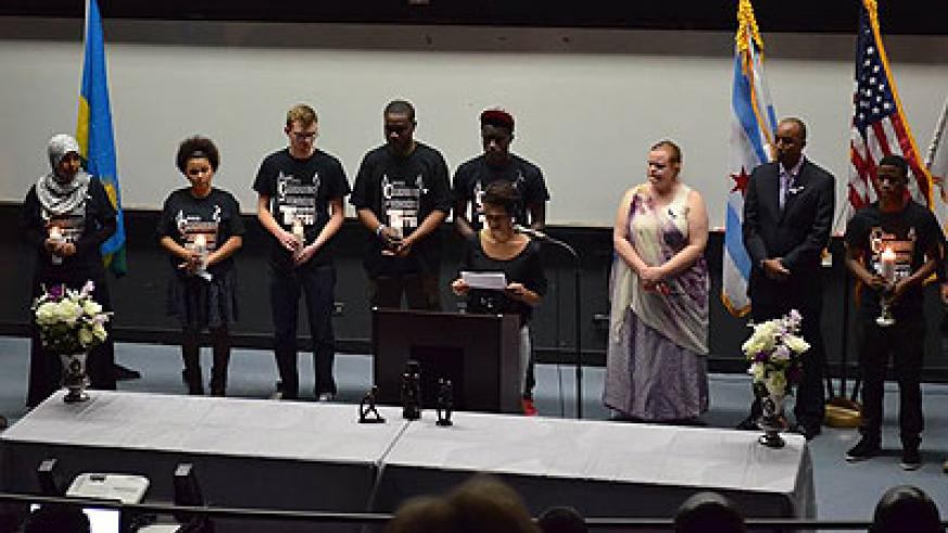 Rwandans in Chicago and friends of Rwanda commemorate the Genocide against the Tutsi last Friday. Courtesy.