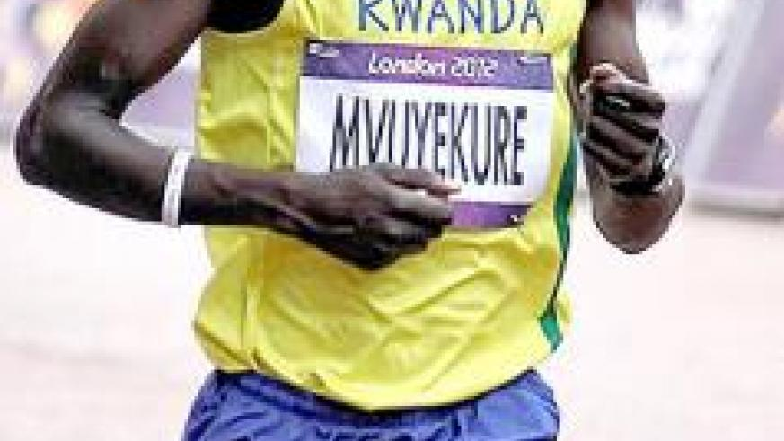 Jean Pierre Mvuyekure, seen here competing in 2012 London Games, finished second in Korea International marathon on Sunday. File