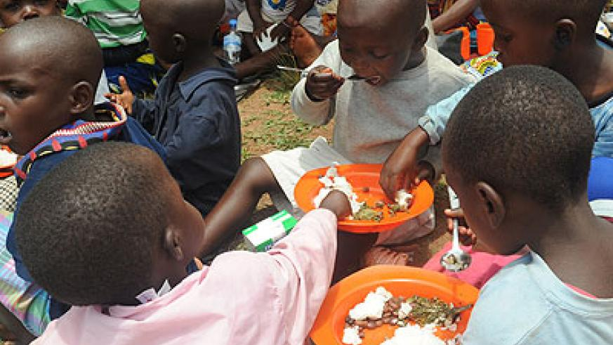 The government is working around the clock to ensure that every student is served a nutritious meal at school. /Timothy Kisambira