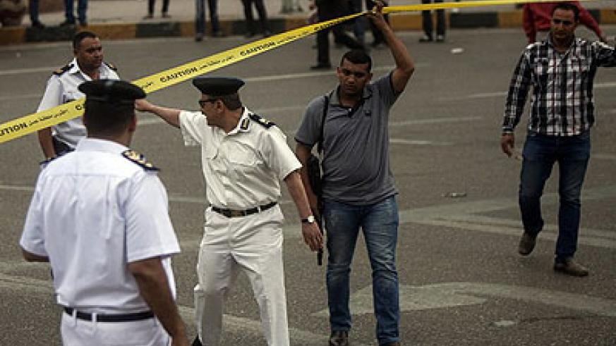 Tuesday's blast in central Cairo was the latest in an ongoing series of attacks targeting the government. Net photo.