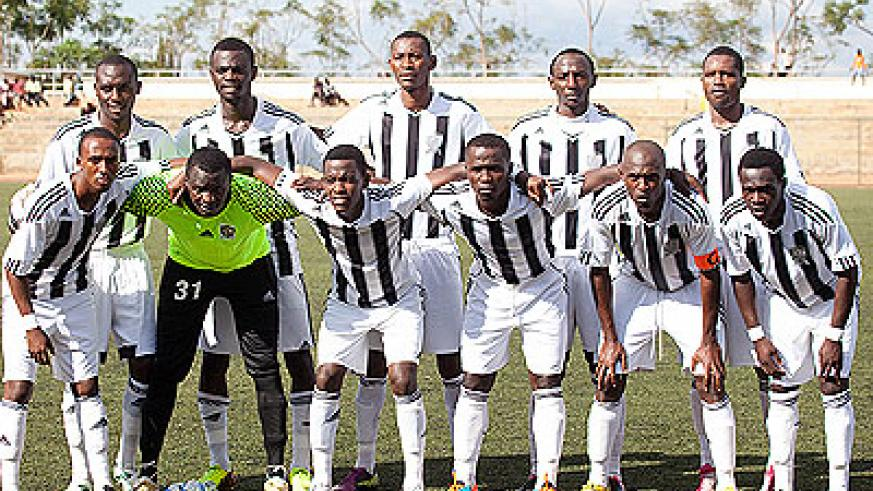 APR team that started the Peace Cup match against AS Muhanga. The seven-time champion won 10-9 in shootouts to progress to the last eight. Timothy Kisambira