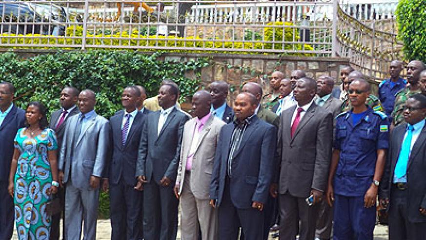 Some of the participants in Thurdsday's meeting pose for a group photo.  Jean Pierre Bucyensenge.