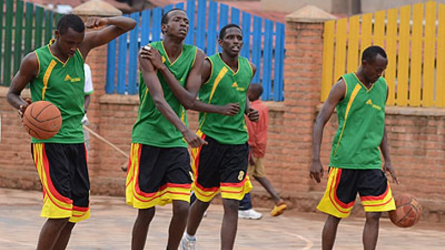 Newly formed IPRC basketball club has a record of five wins and five defeats at the halfway mark of the regular season. Plaisir Muzogeye.