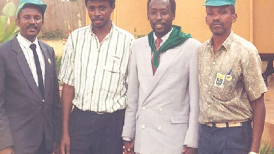 Rwayitare (2nd right) and Liberal Party colleagues in the early 90s.  Courtesy.