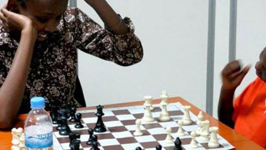 Ange Nsabimana is one of the players expected to compete for the five slots up for grabs for the World Chess Olympiad. (Courtesy)