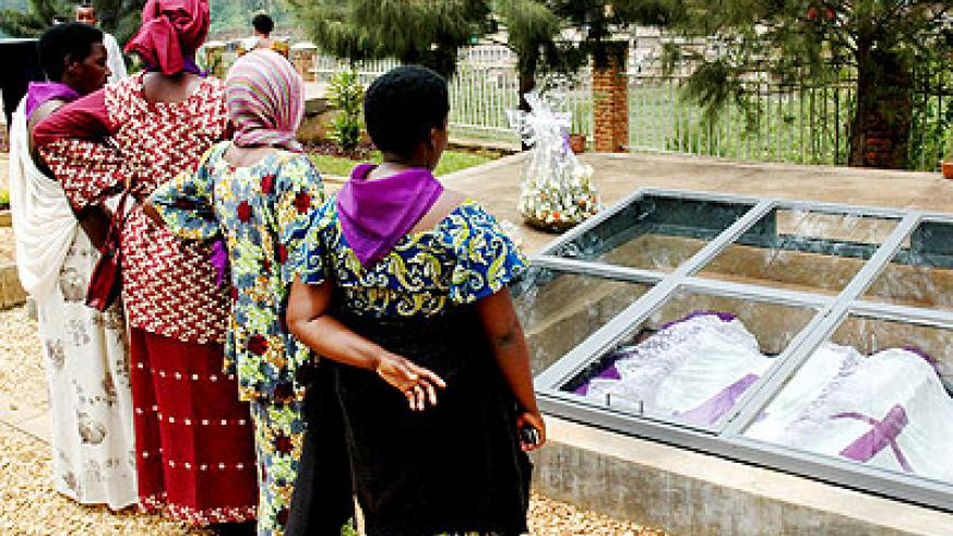 Relatives of Genocide victims pay respects at Kigali Genocide Memorial Centre. Survivors and relatives of the 1994 pogrom had to forgive and live in unity again. File.