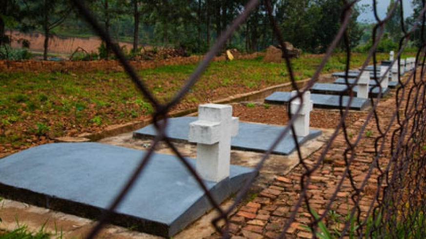 Some of the mass graves at Nyange memorial site. MPs are concerned by the state of some memorial centres. T. Kisambira.