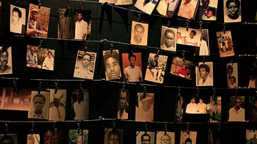 The faces of some of the Genocide victims at the Kigali Memorial Centre.  File.