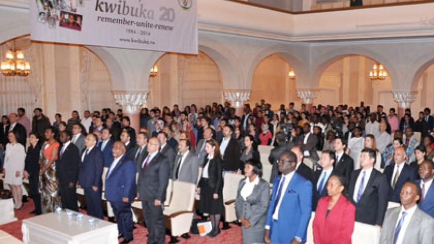 A section of Rwandans and well-wishers during the commemoration in Ankara. Courtesy.