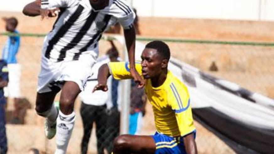 Midfielder Tumaine Ntamuhanga will be a big boost for APR as they seek to secure a win and their 14th league title against AS Muhanga today at Kigali Regional Stadium. (Timothy Kisambira)