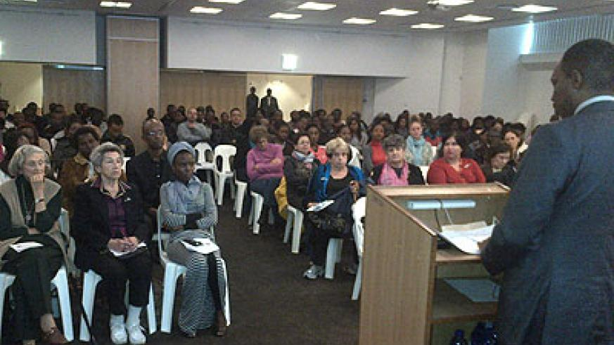 Rwandans and friends of Rwanda in South Africa commemorate the 1994 Genocide in Cape Town, yesterday.  Courtesy.