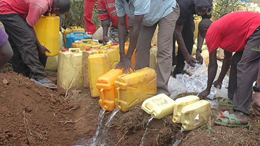Illicit brew destroyed in Kigali in the past. Timothy Kisambira. Courtesy.
