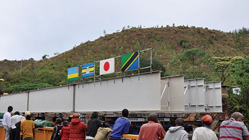 Ongoing works at Rusumo bridge and one stop border post at the Rwanda-TZ border. Infrastructure projects like this will play a key role in promoting trade across the region.   The ....