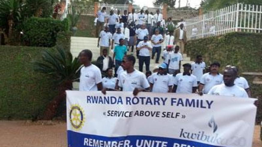 Rotarians at the Gisozi Genocide Memorial. (Allan Brian Ssenyonga)