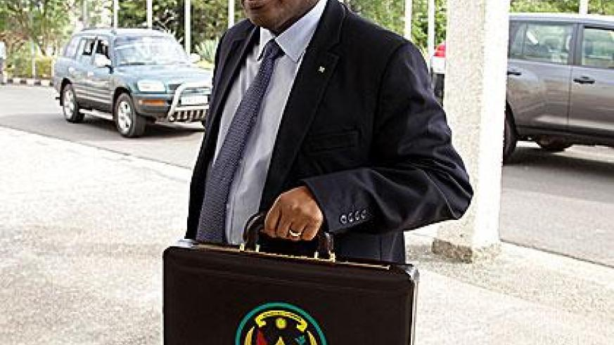 Minister Gatete at Parliament on Thursday. (File)