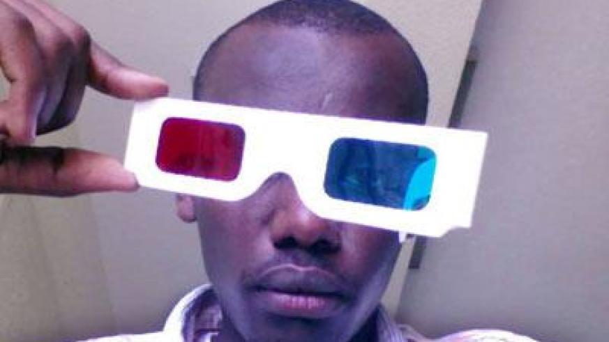 Mufuth with this 3D glasses of red and cyan. (Patrick Buchana)