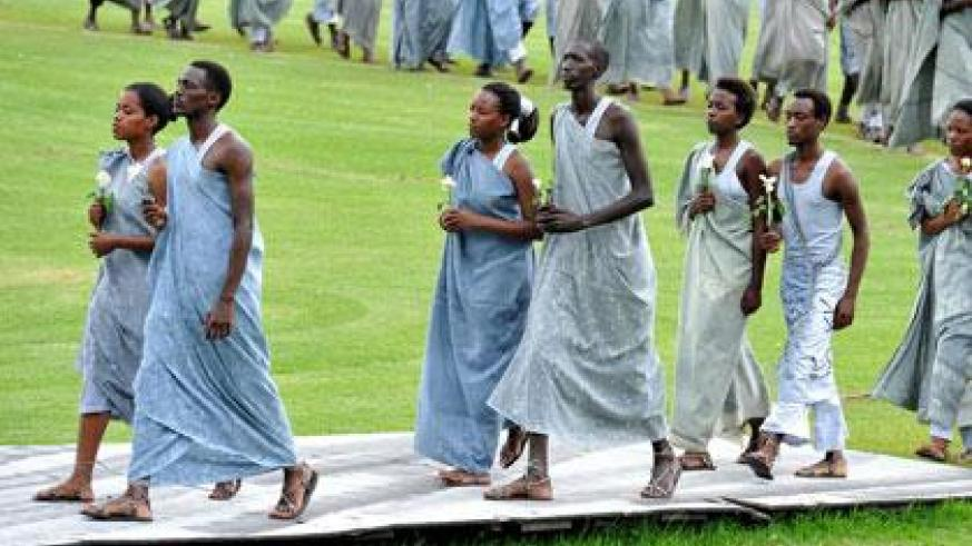 One the scenes in a play about the 1994 Genocide against the Tutsi. (File)
