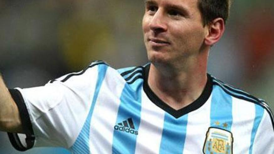 Lionel Messi will be looking to seal his position in the pantheon of football greats when Argentina takes on Germany in the 2014 Fifa World Cup final. Internet photo)