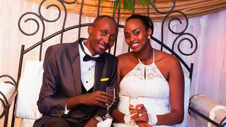 DJ Pius and Umulisa on their Wedding Day in March. (Courtesy)