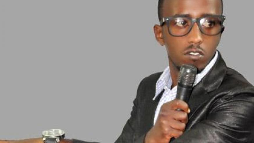 Muvunyi Junior Damian acts the President's persona on stage. (Courtesy)