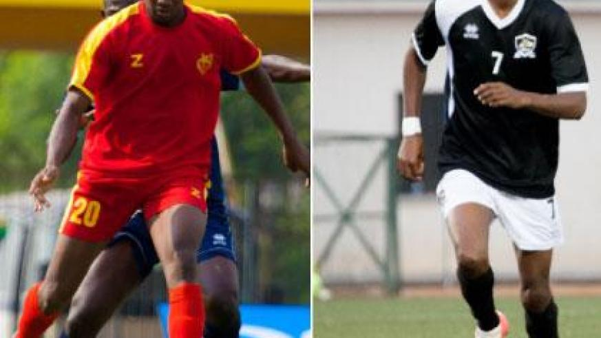 El Mereikh forward Mohamed Trorie (L) is expected to be a big threat to APR defenders but the experience of Jean-Baptiste Mugiraneza (R) in APR midfield will be key to containing E....