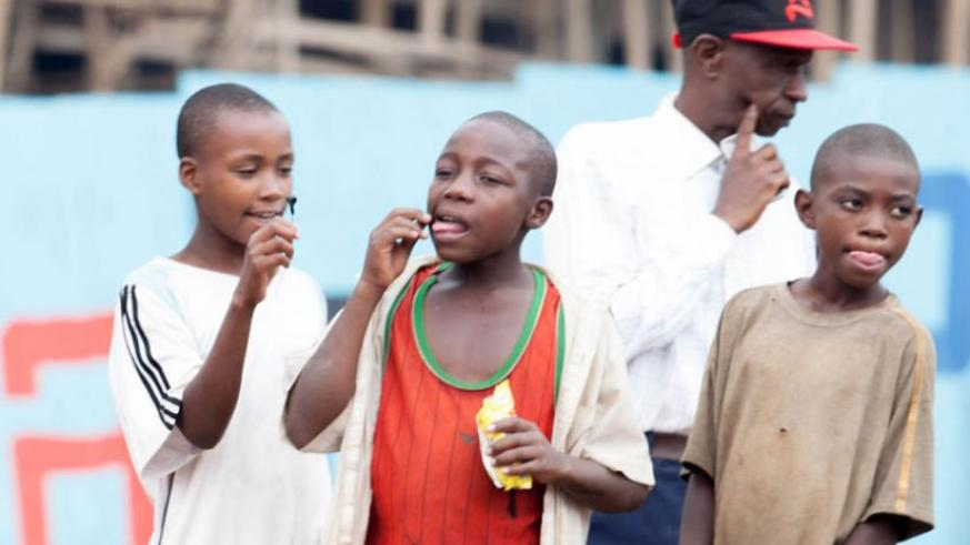 Street children roam downtown Nyabugogo locale. (Timothy Kisambira)