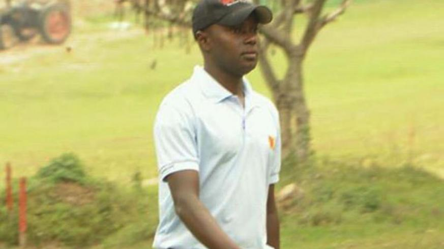 Rwanda's lead professional golfer Emmanuel Ruterana is looking to win Uganda Golf Open title. (Courtesy)